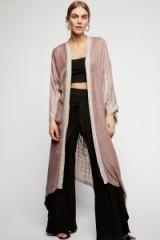 Sugar Mountain Maxi Kimono | mauve kimonos