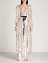 TEMPERLEY LONDON Bardot sequinned coat / luxury event coats / glamorous statement