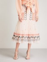TEMPERLEY LONDON Maze embroidered-tulle skirt | luxe skirts