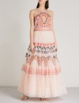 TEMPERLEY LONDON Maze halterneck embroidered-tulle dress | romantic occasion dresses