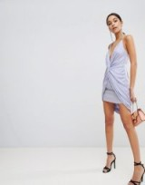 The Jetset Diaries Knot Front Mini Dress in Lavender – glamorous evening dresses