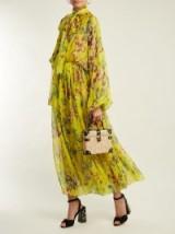 DOLCE & GABBANA Vegetable-print yellow silk jumpsuit ~ beautiful Italian clothing ~ feminine style