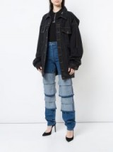Y / PROJECT panel straight-leg jeans | tiered denim