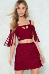 NASTY GAL You're a Complete Babe Fringe Top and Skirt Set. FRINGED OUTFITS