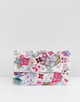 Accessorize Francesca wow embellished foldover clutch | 3D floral bags