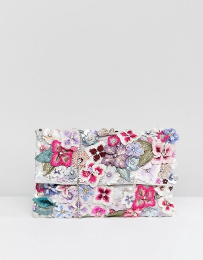 Accessorize Francesca wow embellished foldover clutch  56c6abed46b28