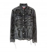 Adaptation Denim Jacket ~ distressed graffiti print jackets