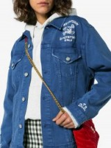 Adaptation Invitation Only Embroidered Denim Jacket ~ blue slogan jackets
