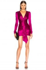 ALEXANDRE VAUTHIER Ruched Mini Dress / hot pink party dresses / luxe fashion