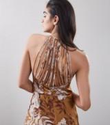 REISS ANABELA STRAPPY BACK MIDI DRESS ~ floral dresses ~ little details