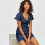 WAREHOUSE ANGEL SLEEVE TEA DRESS / denim dresses