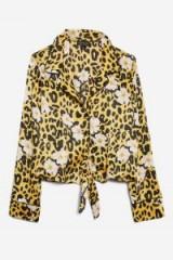 Topshop Animal and Floral Print Pyjama Shirt | leopard print shirts