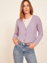 Reformation Annabell Sweater Lilac | cropped knitwear