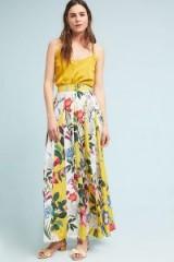 Rococo Sand Aprile Skirt | long yellow floral print skirts