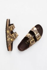 Birkenstock Arizona Lux Metallic Birkenstock. LUXE BROWN BIRKENSTOCK FLAT SANDALS