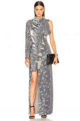 ASHISH Siren Dress Mirrorball / luxe silver sequin one sleeve gowns