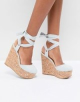 ASOS TATE High Wedges | strappy pale blue wedged sandals