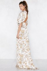Nasty Gal At the Top Baroque Dress – open back maxi dresses