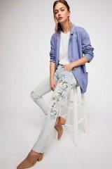 Driftwood Audrey Slim Boyfriend Jeans / floral denim