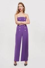 Topshop Bandeau Jumpsuit | purple strapless jumpsuits