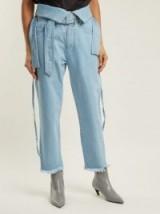 MARQUES'ALMEIDA Belt-waisted denim trousers ~ belted frayed hem jeans
