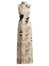 MARQUES'ALMEIDA Bird brocade cut-out gown / floral oriental style dresses