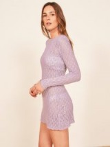 Reformation Birkin Dress in Lilac | sheer knitted dresses