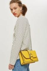 TOPSHOP Bronte Buckle Shoulder Bag ~ yellow handbags