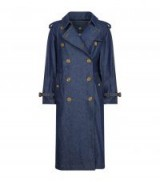 Burberry Denim Eastheath Trench Coat ~ chic blue denim coats