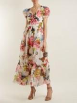 DOLCE & GABBANA Butterfly and padlock-print midi dress ~ beautiful Italian dresses
