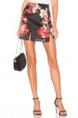 by the way. CORDILLA SLIT MINI SKIRT / front split floral skirts