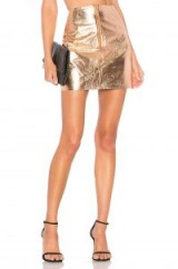 by the way. JAYDA METALLIC SKIRT rose gold / shiny mini skirts