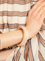 OBJET SINGULIER Chunky geometric bracelet ~ light-pink wooden statement jewellery