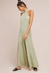 ANTHROPOLOGIE | Cloth & Stone Marfa Jumpsuit Moss / green wide leg jumpsuits