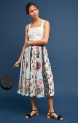 Pallavi Singhee Condorcet Floral Skirt | gathered full skirts