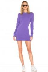 COTTON CITIZEN TOKYO LONG SLEEVE MINI DRESS – purple cotton sweater dresses