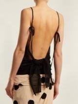 JACQUEMUS Cotton-blend cami top ~ semi sheer scoop back tops