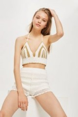 Topshop Crochet Bralet | 70s vintage style knitted halter tops