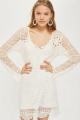 Topshop Crochet Tie Dress | ivory knitted dresses