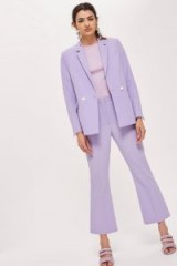 TOPSHOP Cropped Double Breasted Suit – lilac trouser suits