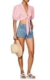 CURRENT/ELLIOTT The Ultra High Waist Shorts ~ blue denim raw edge shorts