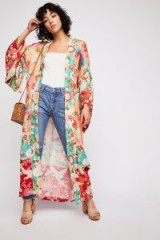 Spell and the Gypsy Collective Delilah Patchwork Maxi Kimono | long floral kimonos