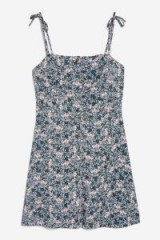 Topshop Ditsy Button Through Mini Slip Dress | floral cami dresses