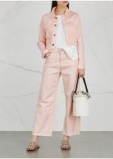 DL1961 Shawn pink cropped denim jacket ~ blush frayed hem jackets