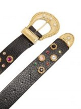 DODO BAR OR Donatella embellished leather belt ~ luxe crystal scattered gold tone buckle belts ~ statement accessory