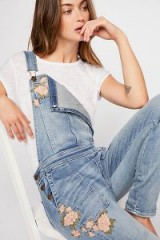 Driftwood Olivia Overalls / floral embroidered denim dungarees