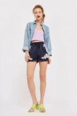 Topshop Embellished Shorts | sports luxe fashion