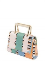EMILIO PUCCI ZENZY PRINTED SILK TWILL CLUTCH / small top handle bags