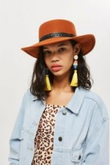 TOPSHOP Felt Hat Rust / orange-brown brimmed hats