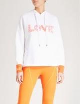 FENDI Love-print neoprene hoody / designer slogan hoodies